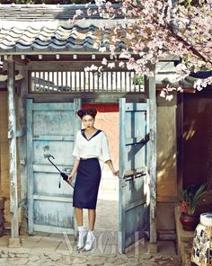More pretty from Vogue Korea. Jardin de Chouette Spring 2012 Collection [Louis Vuitton Shoes]