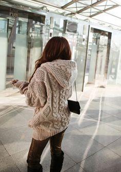 Striped Chevron Sweatercoat ($198) | Field Flower by Wendi Reed ...