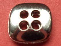 10 kleine Knöpfe 11mm silber (3741-20x)
