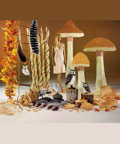 Giant mushrooms - Φθινοπωρινό ντεκόρ για τη βιτρίνα