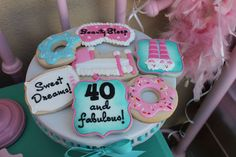 Laura's 40th donuts