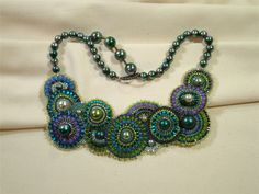 free seed bead bracelet  patterns | necklace variation of Laura Zeiner's bracelet pattern in August 2010 ...