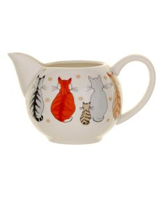 Look what I found on #zulily! Cats in Waiting Cream Jug #zulilyfinds