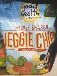 Mickey Mouse shaped veggie chips