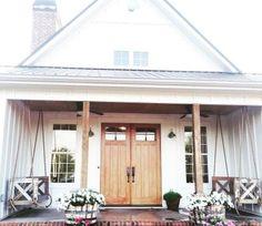 48 modern farmhouse porch decor ideas