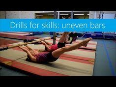 Drills for Skills: Uneven Bars! Gymnastics At Home, Gymnastics Lessons, Gymnastics Routines, All About Gymnastics, Tumbling Gymnastics, Gymnastics Coaching, Gymnastics Videos, Gymnastics Workout, Sport Gymnastics