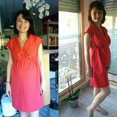 Première robe de grossesse 😄 j'ai encore un peu de place mais au moins je serai à l'aise !! #sewing #couture #handmade #cousumain #burdastyle #21sa