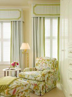 green floral bedroom