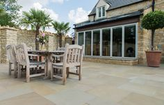 Are You Ready for Alfresco Living? Stone Pizza Oven, Stone Slab, Stamford, Decking, Natural Stones, Exterior, Patio, Flooring, Garden