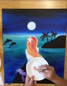 Create your very own mermaid painting! This step by step acrylic painting tutorial for beginners will guide you through the techniques. Mermaid Canvas, Mermaid Art, Mermaid Paintings, Tattoo Mermaid, Mermaid Crafts, Vintage Mermaid, Mermaid Tails, Acrylic Painting Tutorials, Diy Painting