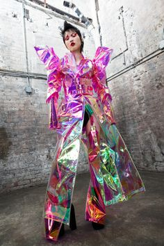 Aesthetic Institute — Kaimin (Selections from SS 2017 + FW 2017 + SS. Weird Fashion, Unique Fashion, Fashion Art, Editorial Fashion, High Fashion, Womens Fashion, Fashion Design, Space Fashion, Fashion Textiles