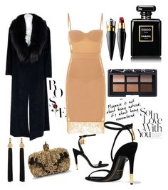 """Pre- Valentine's Day dinner"" by reyen on Polyvore featuring Sorelle Fontana, Tom Ford, Alexander McQueen, Christian Louboutin, NARS Cosmetics, Yves Saint Laurent and Chanel"