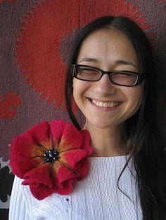 A felt brooch Poppy by Radlana on Etsy, $43.00