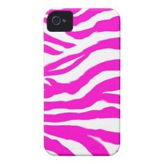 Pink zebra case-mate iphone 4 cases