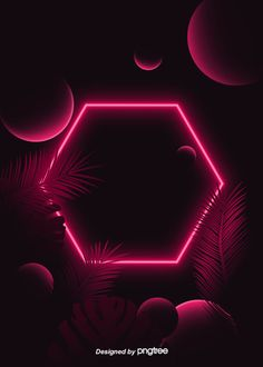Geometric Shape Tropical Leaf Theme Red Neon Lighting Effect Background – Vertical Background Wallpaper(Free design) – epoxyilk Neon Light Wallpaper, Black Background Wallpaper, Neon Wallpaper, Geometric Background, Lights Background, Geometric Shapes, Background Images, Iphone Wallpaper, Pink Nation Wallpaper