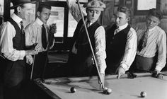 Vintage men playing pool, playing a tough shot Best Hobbies For Men, Easy Hobbies, Hobbies For Adults, Popular Hobbies, Hobbies For Couples, Hobbies To Try, Rc Hobbies, Gentlemens Guide, Live And Learn