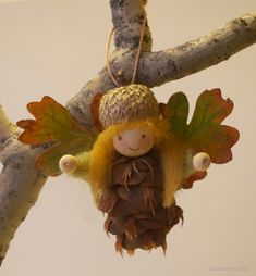 Make some pine cone fairies and elves to live in your house!