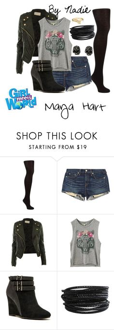 """Girl Meets World- Maya Hart"" by mwahz-fashionistas ❤ liked on Polyvore featuring John Lewis, rag & bone/JEAN, Qupid, Pieces, Bling Jewelry and Disney"