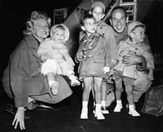 Rosemary Clooney and her family in 1959