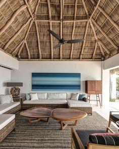 Casa en la loma (House on the Hill) - RVO Studio Bamboo House Design, Tropical House Design, Tropical Interior, Tropical Houses, Hut House, Bali House, African House, Beach House Decor, Architecture Design