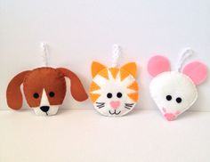 Raining Cats and Dogs by Stripy Kite on Etsy
