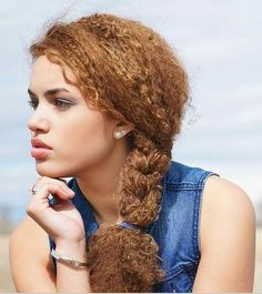 Curly braid ponytail