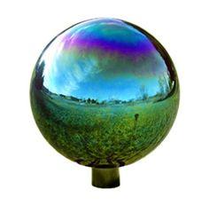 Echo Valley 10 in. Arco Iris Standard Gazing Globe - Set of 2 - Rainbow Garden, Garden Globes, Pet Gate, Lawn Ornaments, Green Lawn, Gardening Supplies, Hand Blown Glass, Outdoor Gardens, Statue