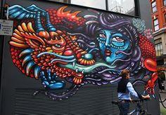 20 Female Street Artist you should know - Street art and graffiti magazine Graffiti Photography, Art Photography, Soho, Urban Painting, Best Street Art, Street Art Graffiti, Street Artists, Banksy, Urban Art