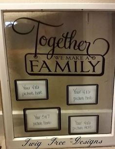 Love working with old windows - this is a great way to display family photos :)