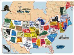 MGI Companies, Inc. - USA Magnet Set with FREE USA Fridge Map, $67.90 (https://www.internationalgiftitems.com/50-states-usa-map)