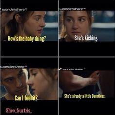 Aw I wish this happened! Divergent Jokes, Divergent Hunger Games, Divergent Fandom, Divergent Trilogy, Divergent Insurgent Allegiant, Disney Divergent, Insurgent Quotes, Tris And Tobias, Tris And Four
