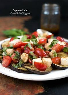 Refreshing Caprese Salad served over grilled eggplant, with a drizzle of balsamic vinaigrette. Summer salads continue over here (even though it's not officially summer). If I feel like I am getting off track with healthy eating, I always turn to salad. I find them very satisfying and I am not talking about a basic garden...Read More »
