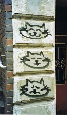 Hamburg, Germany cat graffiti