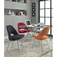 "<p>The Earnest's contemporary design features a dual-tone tweed upholstery atop a sleek chrome base. It invites comfort and maintains a simple yet powerful dynamic. </p><p>Set Includes:<br />One - Earnest Side Chair</p><p>Summary:<br />Comfort combined with solid form<br />Dual-tone upholstered tweed cushion<br />Chrome legs with non-marking feet</p><p>Overall Product Dimensions: 17.5""L x 22""W x 33""H<br />Seat Height: 20""H</p>"