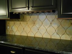 for the kitchen backsplash use a stencil and paint in with an