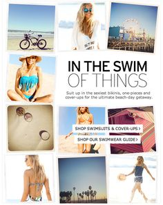 In The Swim of Things Nordstrom Email Design