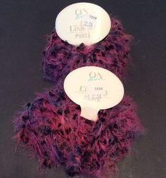 Linie 43 Punta on Live 31 Purple Yarn 2 Skeins Eyelash 50 grams Rayon Blend New   eBay