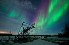 Fish Wheelin', aurora borealis photo from Alaska
