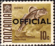 Tanzania 1967 Fish Official Fine Used SG O21 Scott O10 Other Tanzania and British Commonwealth Stamps HERE!