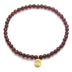 Satya Garnet Bandha Tree of Life Bracelet >>> Click on the image for additional details. #Bracelets