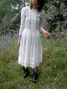 Sweeping Brown Floral Vintage Gunne Sax Gown Maxi Dress Hippie ...