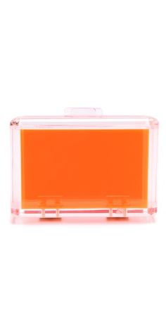 Totally trendy Orange Bright Love Lucite Clutch by @CC Skye Inc. at @Shopbop