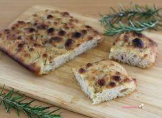 Focaccia bianca con lievito madre Pizza, Cheese, Brot, Bakken