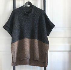 Skøn Poncho til Vinterkulden af Susanne Gustafsson - Onesize - Drops Air Casual Skirt Outfits, Vest Outfits, Knitted Poncho, Knitted Bags, Poncho Outfit, Big Knit Blanket, Big Knits, Drops Design, Latex Fashion