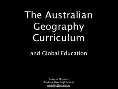 Australian Geography Curriculum