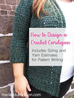 How to Design a #Crochet Cardigan. Are you looking to design a crochet cardigan and perhaps even write a pattern for one? This post will give you the basics on how to do so! How to size up and down PLUS how to estimate yarn amounts without having to make each cardigan size is also included! #crochet