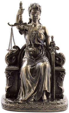 Lady Justice Sitting Statue