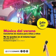 #FAMILIAconarte En agosto los domingos son de música en #NiñosCONARTE! Conciertos de verano para disfrutar en familia.  [AG.06 . 18H . Niños CONARTE] #EstoEsCONARTE