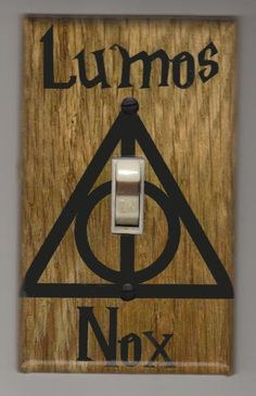 Harry Potter Light Switch Cover Plate Lumos by SuperheroWallArt Harry Potter Light, Cover Harry Potter, Harry Potter Items, Harry Potter Wand, Lumos Nox, Harry Potter Bedroom, Harry Potter Christmas, Light Switch Covers, Fans