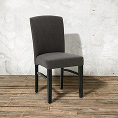 "Patton 25"" Upholstered Dining Chair In Taranto Linen  Dining New Charcoal Dining Room Inspiration"